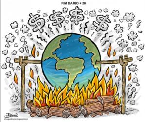 Cartoon de Bruno.blogs.com. Fin de la Conférence de l'ONU sur le développement durable Rio2012.
