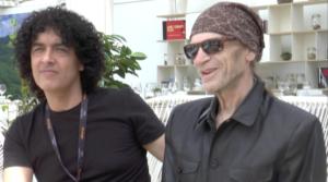 Le réalisateur Tony Zierra et l'acteur Leon Vitali à Nespresso beach lors d'une ITW regardinfos.com ©NODS, 22 mai 2017.