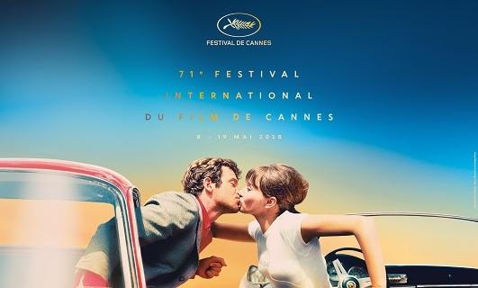 Affiche du Festival de Cannes 2018 ©FDC ©Maquette : F Maquin - Photo ©G Pierre